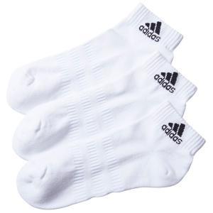 アディダス ADIDAS 3足組 靴下 ユニセックス ソックス アンクルソックス FXI63 白 くつ下 カジュアル|streetbros