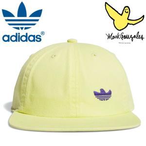 アディダス キャップ シュムー マークゴンザレス コラボ ロゴ オリジナルス adidas skate FM1598 イエロー|streetbros