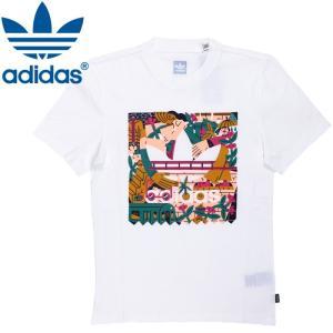 アディダス スケートボーディング 三つ葉 グラフィックプリント Tシャツ DU8362 ホワイト オリジナルス|streetbros