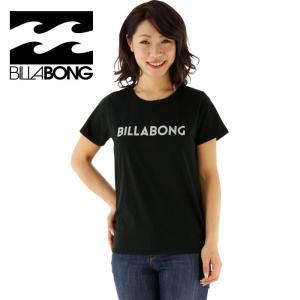 SALE ビラボン レディース半袖Tシャツ ロゴティーシャツ ロゴTEE 女性用 BILLABONG AG013200 BLK|streetbros