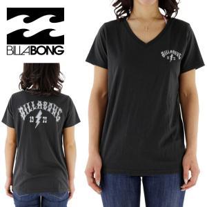 SALE ビラボン レディース VネックTシャツ クラシックロゴ ロゴTEE 女性用 BILLABONG AG013203 CHR|streetbros