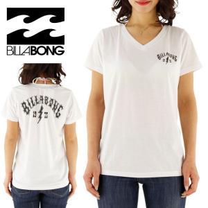 SALE ビラボン レディース VネックTシャツ クラシックロゴ ロゴTEE 女性用 BILLABONG AG013203 WHT 2016年モデル BILLABONG  ビラボン Tシャツ  半袖Tシャツ|streetbros