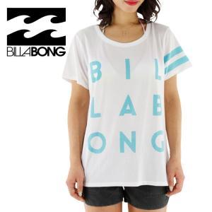SALE ビラボン レディース ラッシュTシャツ 水陸両用 ゆったりサイズ 女性用 BILLABONG AG013892 WHT 人気 2016年モデル BILLABONG  ビラボン ロゴティーシャツ|streetbros