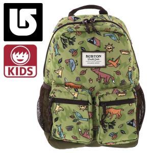 バートン キッズ リュックサック 15L Backpack 110551 総柄 動物柄 グリーン系|streetbros