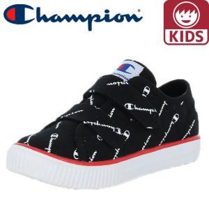 チャンピオン キッズシューズ 軽量 CP KC002 キッズセンターコート STRAP 黒色 ブラック|streetbros
