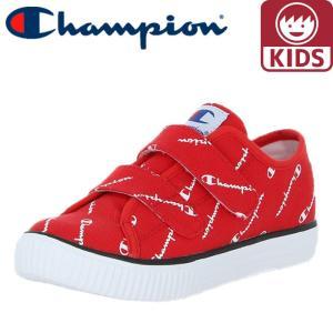 チャンピオン キッズスニーカー キッズセンターコート STRAP 軽量 CP KC002 赤色 レッド 即納|streetbros