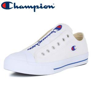 チャンピオン センターコートOX スリッポン スニーカー シューズ ロゴ ホワイト CHAMPION LC025|streetbros