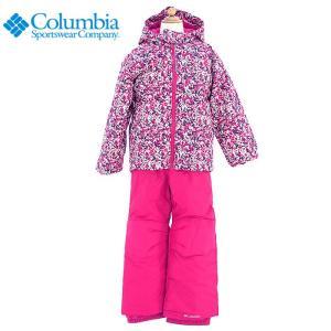 コロンビア キッズ スキーウエア 上下セット 子ども用 スノーボードウエア ピンク 花柄 COLUMBIA SY1092|streetbros