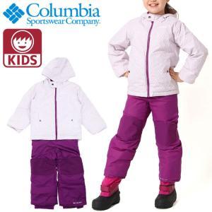 コロンビア 上下セット キッズ スノーウェア ビブパンツ ジャケット ユニセックス COLUMBIA SY1092 584|streetbros