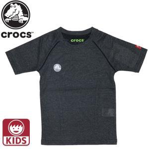 クロックス CROCS Tシャツ キッズ ジュニア 半袖 119167 ブラック 男の子 女の子|streetbros