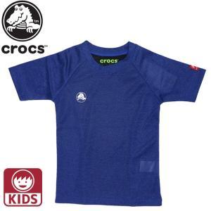 CROCS クロックス キッズ ジュニア 男の子 女の子 Tシャツ 半袖 119167 ネイビー|streetbros