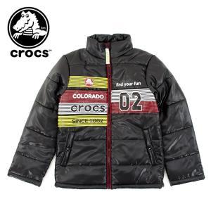 クロックス キッズ 中綿 ジャンパー ジャケット crocs 145260 子供服 ジュニアサイズ ブルゾン ブラック 黒色 BLACK アウター 通販 販売 即納 人気|streetbros
