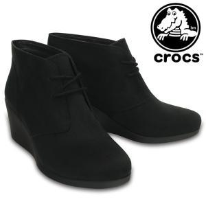 クロックス レイ シンセティック スエード ウェッジ レディース ブーツ ウィメンズ CROCS 203863 001|streetbros