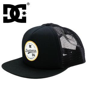 DC SHOES CAP フラットバイザー スナップバックキャップ メッシュキャップ 帽子 CAP ぼうし 黒 streetbros