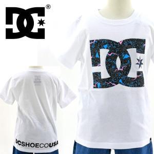 セール DC SHOES(ディーシー) キッズ Tシャツ ロゴ柄 KD PRINT STAR 「7126J702 WHT」ホワイト 半袖 ジュニア ティーシャツ streetbros