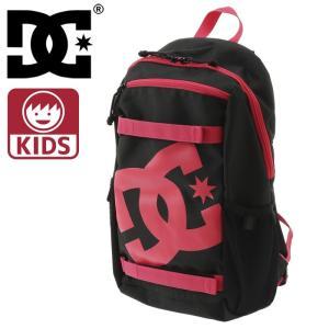 ディーシー キッズ バックパック DC リュックサック 11L デイパック バッグ 鞄 黒 ブラック ピンク streetbros