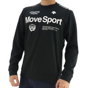 デサント スポーツウェア 長袖 Tシャツ メンズ トレーニング ストレッチ ブラック DESCENTE DMMSJB52|streetbros