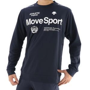 デサント Tシャツ スポーツウェア メンズ 長袖 ロゴ 吸汗 トレーニング ネイビー DESCENTE DMMSJB52|streetbros