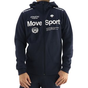 デサント スポーツウェア メンズ 長袖 トレーニングジャケット ロゴ 吸汗 ネイビー DESCENTE DMMSJF11|streetbros