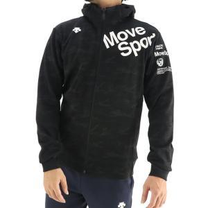 デサント トレーニングジャケット ダブルフェイス 長袖 メンズ 総柄 ブラック DESCENTE DMMSJF22|streetbros