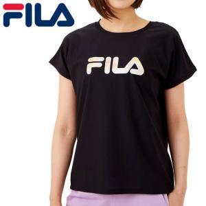 フィラ 半袖 レディース フィットネス ストレッチ UV ヨガ Tシャツ 吸水速乾 ブラック FILA 311512 streetbros