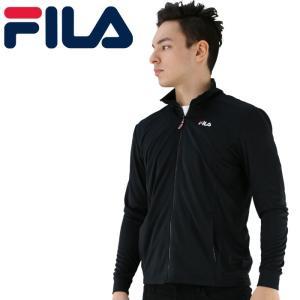 FILA メッシュジャケット 黒色 ドライ フィラ 吸水速乾 軽量 上着 シンプル ラッシュ|streetbros