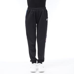 FILA ベアインレイ ストレートパンツ スウェット ジャージ ランニング トレーニング パンツ フィラ ブラック|streetbros
