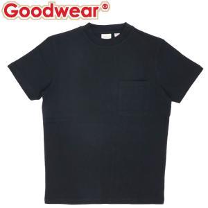 グッドウェア 無地 メンズ トップス Tシャツ USAコットン 半袖 ブラック 黒色|streetbros