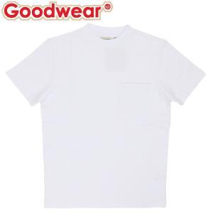 グッドウェア USAコットン ポケットT 半袖 Tシャツ ユニセックス トップス ホワイト 白色 人気 即納 Tシャツ|streetbros