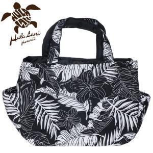 フララニ 旅行バッグ トートバッグ ハワイアンバッグ マザーズバッグ ブラック 黒色 ボタニカル柄 streetbros