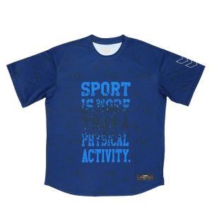 ヒュンメル HAPB4015 ネイビー 速乾性 昇華半袖Tシャツ 半袖 hummel スポーツウェア バスケ|streetbros