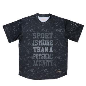 ヒュンメル hummel スポーツウェア 半袖 バスケ ブラック 昇華半袖Tシャツ 速乾性 HAPB4015|streetbros