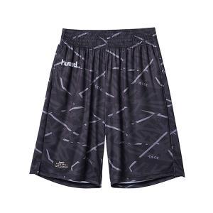 ヒュンメル バスパン HAPB6020 バスケット ハーフパンツ ブラック 昇華プリント プラクティスパンツ hummel|streetbros