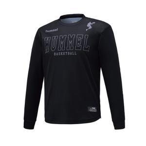 hummel バスケット  昇華Tシャツ ヒュンメル ロゴTシャツ HAPB4029 メンズ長袖Tシ...