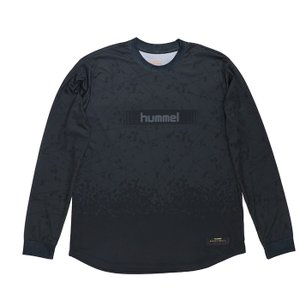 バスケ hummel 昇華ロングTシャツ  トレーニング 速乾性 HAPB7013 ブラック長袖|streetbros