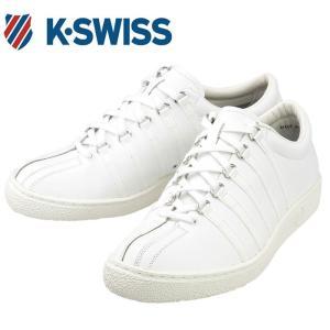 K・SWISS メンズスニーカー 白 クラシック66 レザーシューズ ケースイス CLASSIC66 JPN レディース 36801000|streetbros
