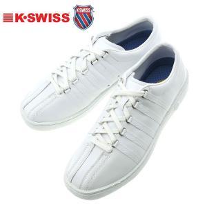 クラシック66 ホワイト/ホワイト ケースイス メンズスニーカー K・SWISS CLASSIC66 レザーシューズ|streetbros