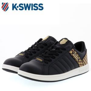 ケースイス スニーカー チェック シューズ ブラック ゴールド K・SWISS KSWISS KSL 03 36800037|streetbros