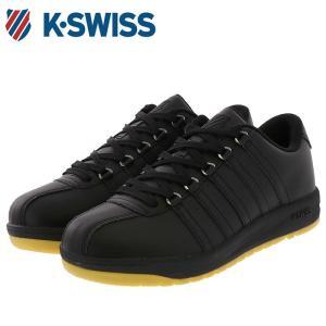 ケースイス シューズ KSWISS スニーカー レザースニーカー 合皮 KSL 06 ブラック|streetbros