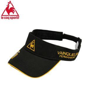 ルコック サンバイザー マーカー付き Lecoq ゴルフキャップ 帽子 メンズ QG0233 黒 ブラック streetbros