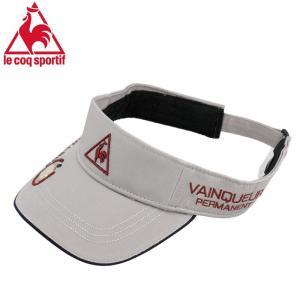 ルコック マーカー付き サンバイザー Lecoq ゴルフキャップ ゴルフ メンズ 帽子 QG0233 グレー 人気 即納 streetbros