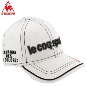 ルコックスポルティフ ゴルフキャップ 帽子 マーカー付き アジャスター 調節 QG0264 ホワイト 白色|streetbros