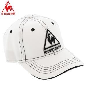ルコックスポルティフ ゴルフキャップ 帽子 マーカー付き アジャスター 調節 QGBNJC02 ホワイト 白色|streetbros