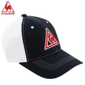 ルコックスポルティフ ゴルフキャップ 帽子 メッシュ アジャスター 調節 QGBNJC05 ネイビー 紺色|streetbros