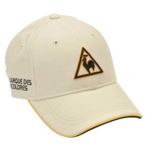 ルコック キャップ ゴルフ 帽子 マーカー付き ロゴ コットン ホワイト QGBOJC00|streetbros