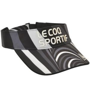 ルコックゴルフ サンバイザー ゴルフ 帽子 マーブル柄 QGBOJC51 lecoq|streetbros