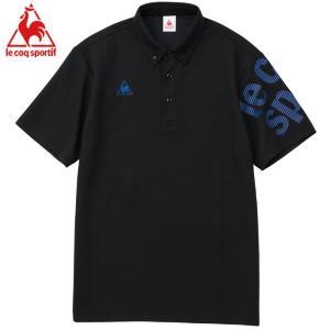 即納 ルコック ゴルフ スポーツ QMMNJA45 ポロシャツ 半袖 Lecoq 吸汗速乾 ブラック 襟付き クールビズ 人気ブランド おすすめ|streetbros