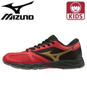 ミズノ スニーカー ジュニアサイズ スピードスタッズ 運動靴 赤色 K1GC1939 レッド|streetbros