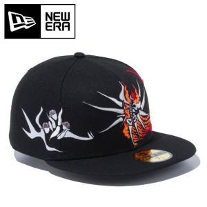 ニューエラ キャップ 岡本太郎 明日の神話 帽子 ベースボールキャップ ブラック 12653866|streetbros