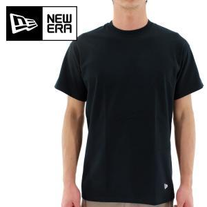 NEWERA(ニューエラ) 2枚入り 黒 無地 Tシャツ 「S〜XLサイズ」 2PACK Tee BLK 11229178|streetbros